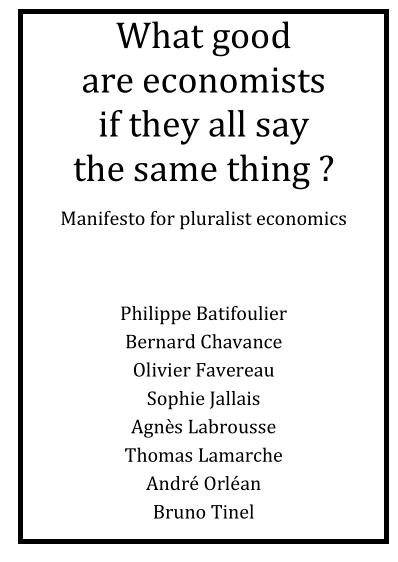 Manifesto for pluralist economics