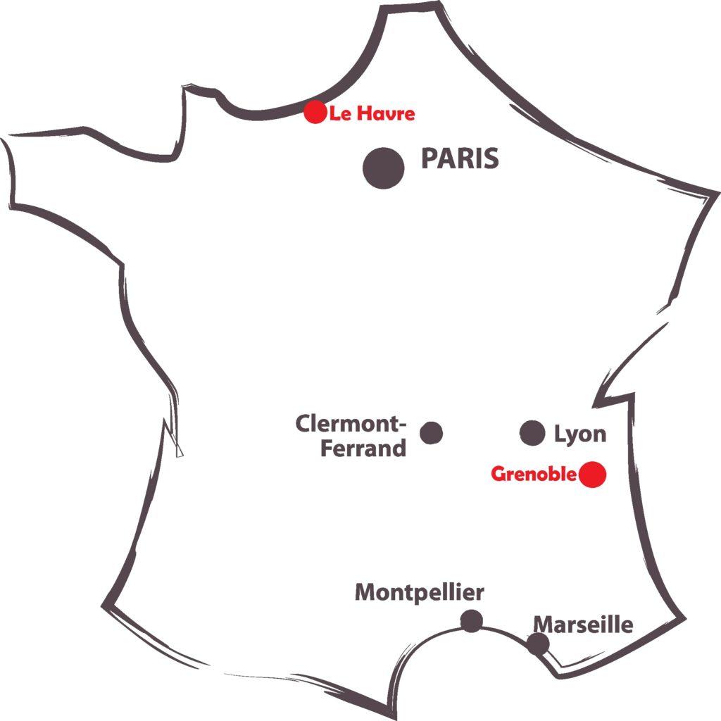 Carte France tour blanc